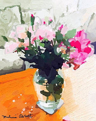 Roses In The Living Room Art Print
