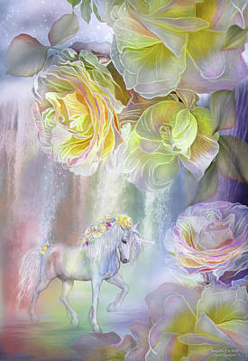 Mixed Media - Roses In The Mist by Carol Cavalaris