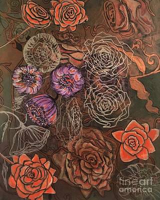 Mixed Media - Roses In Time by Mastiff Studios
