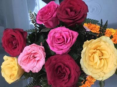 Roses Art Print by Jagjeet Kaur