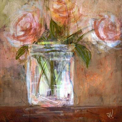 Digital Art - Roses by Jim Vance