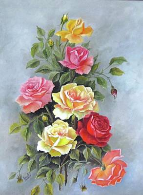 Painting - Roses by Katia Aho