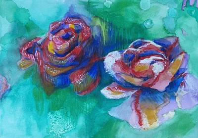 Painting - Roses by Liz Adkinson