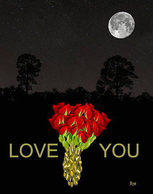 Mixed Media - Roses Love  You by Eric Kempson