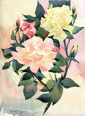 Roses Art Print by Natalia Eremeyeva Duarte