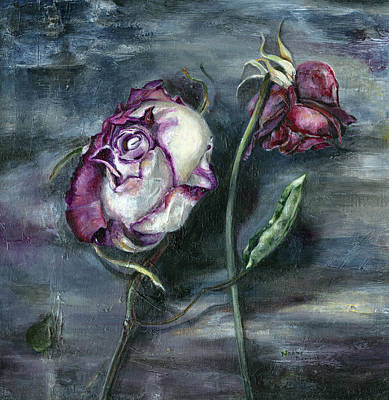 Painting - Roses Never Die by Nadine Dennis