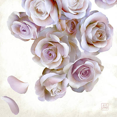 Mixed Media - Roses Of Light by Udo Linke