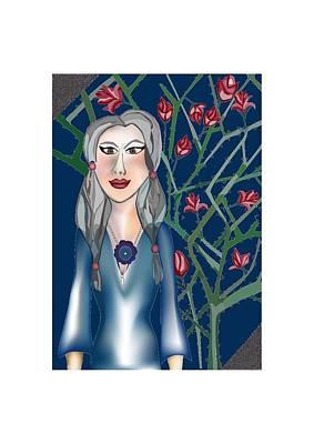 Mother Mary Digital Art - Roses Of Mother Mary by Tatiana Hallack