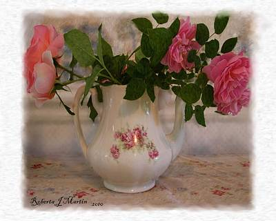 Roses On Breakfast Table  Art Print