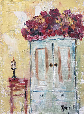 Roses On The Armoire Original