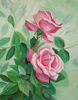 Painting - Roses On The Vine by Julie Brugh Riffey