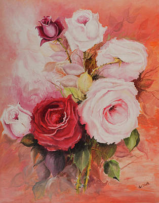 Painting - Roses by Paul Cubeta