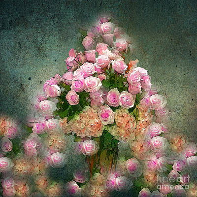 Photograph - Roses Pink And Shabby Chic by Saundra Myles