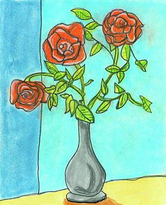 Pastel - Roses R Red by Devon LeBoutillier