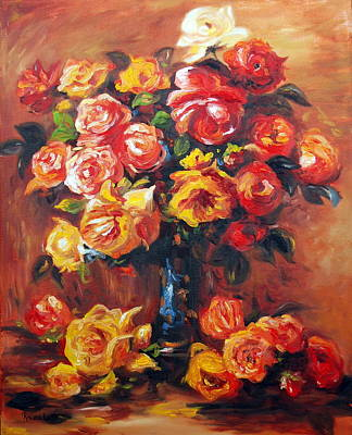 Nature Center Painting - Roses by Rachel Lawson