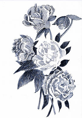 Roses Art Print by Robbi  Musser