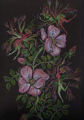 Dance Ballet Roses Drawing - Roses Run Amok by Dawn Fairies