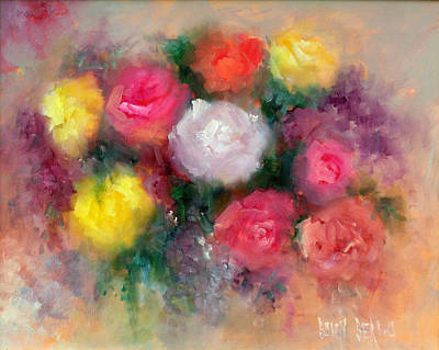 Roses Art Print by Sally Seago