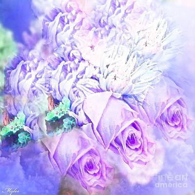Painting - Roses So Purple And Lilac by Saundra Myles