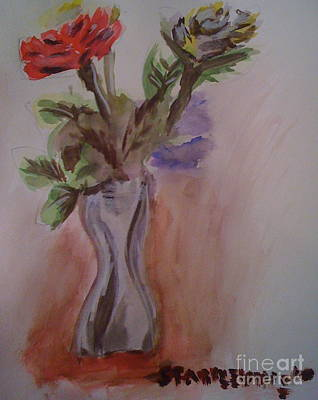 Roses Art Print by Stan Levine