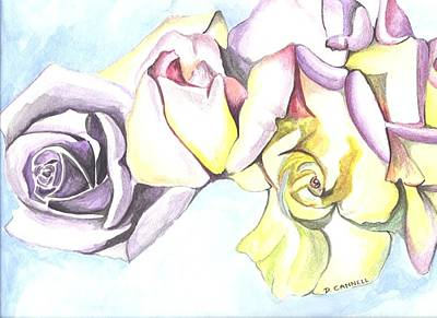 Painting - Roses Study by Darren Cannell