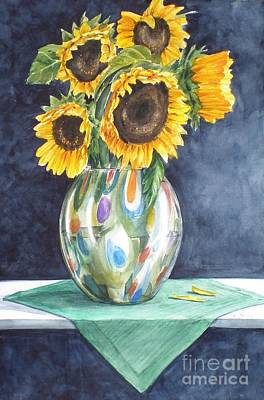 Rose's Sunflowers Art Print