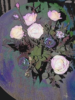 Digital Art - Roses by Victor Shelley