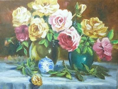 Painting - Roses by Wanvisa Klawklean