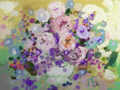 Impressionist Mixed Media - Roses Win by Jennifer Buerkle