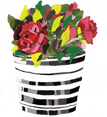 Leaf Painting - Roses by Zara GDezfuli