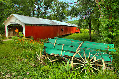 Photograph - Roseville Indiana Covered Bridge by Adam Jewell
