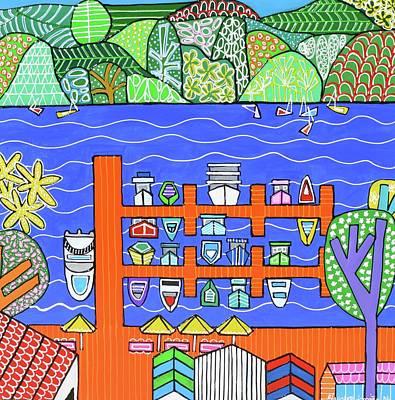 Painting - Roseville Marina  by Elizabeth Langreiter