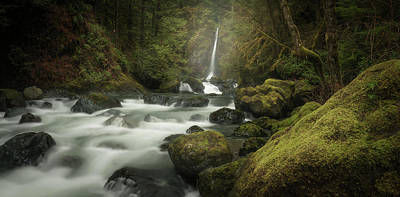 Photograph - Rosewall Creek And Secondary Falls by Adam Gibbs