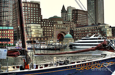 Art Print featuring the photograph Roseway Boston by Adrian LaRoque