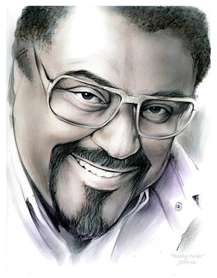 Football Drawing - Rosey Grier by Greg Joens