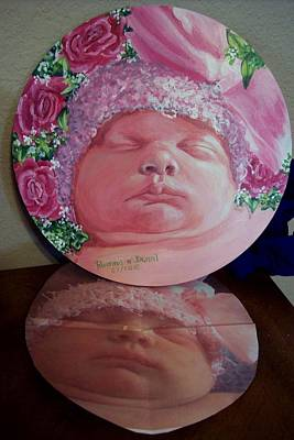 Painting - Rosey Little Babe by Ruanna Sion Shadd a'Dann'l Yoder
