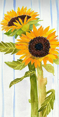 Painting - Rosezella's Sunflowers II by Anne Marie Brown