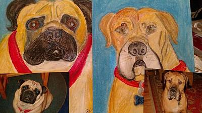 Painting - Rosie And Fergus by Debby Reid