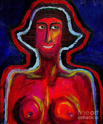 Jeff Mixed Media - Rosie And Her Red Aura by Jeff Breiman