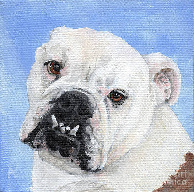 English Bull Dog Wall Art - Painting - Rosie by Annie Troe