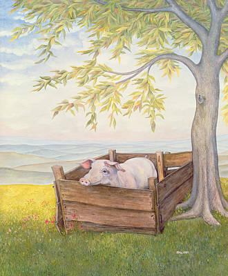 Pork Painting - Rosie by Ditz
