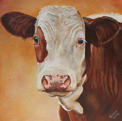 Hereford Painting - Rosie by Laura Carey