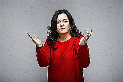 Rosie O'donnell Art Print by Iguanna Espinosa