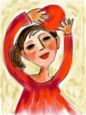 Rosie Red  Art Print by Elaine Lanoue