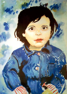 Six-year-old Girl Painting - Rosie by Stephen Brooks