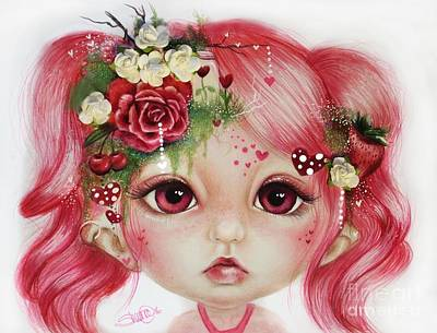 Delicate Drawing - Rosie Valentine - Munchkinz Collection  by Sheena Pike