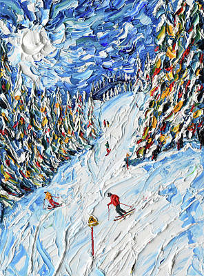 Painting - Rosiere Joining Super Megeve by Pete Caswell