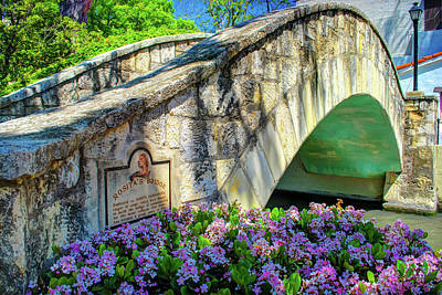 Photograph - Rosita's Bridge - San Antonio Texas Riverwalk by Gregory Ballos