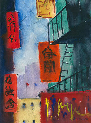 Painting - Ross Alley, Chinatown by Tom Simmons