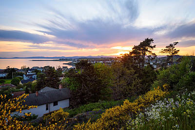Photograph - Ross Bay Sunset by Keith Boone